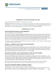 July 2013 exhibitions and events listing - Memorial Art Gallery ...