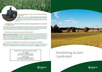 Användning av slam i jordbruket - Veolia
