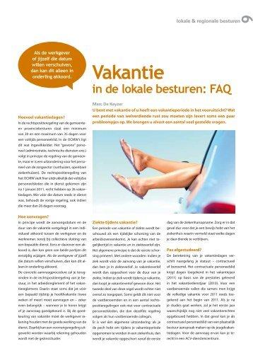 Vakantie - ACV Openbare Diensten