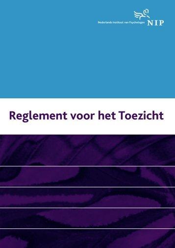 Reglement voor het Toezicht 2007 - NIP