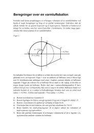 Beregninger over en varmluftsballon - Vestergaards Matematik Sider