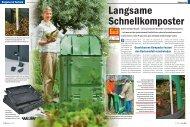 Geschlossene Komposter lassen den  Gartenabfall verschwinden