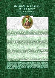 Uitgebreide informatie - Egidius Kwartet