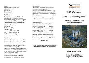 VGB Workshop ''Flue Gas Cleaning 2010'' May 26 ... - VGB PowerTech