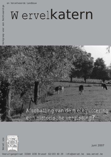Afschaffing van de melkquotering: een historische ... - Wervel