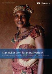 Brev till Diakonias givare om Shekeza i Kongo