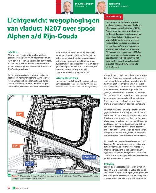 Lichtgewicht wegophogingen van viaduct N207 over ... - GeoTechniek