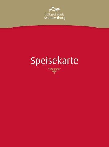 Speisekarte - Schattenburg