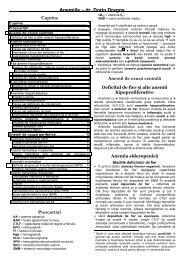 Anemii de cauză centrală - dr. Dorin Dragos