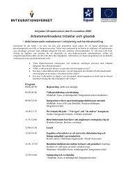 Program - Tema asyl & integration