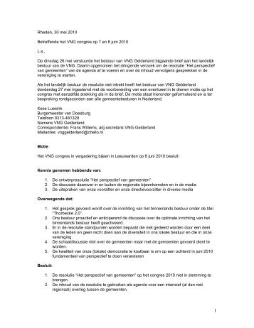 Bijlage: motie VNG congres 2010014045.pdf - Gemeenteraad van ...