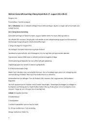 Referat fra Generalforsamling d. 17-08-2011 - Viborg Kajakklub