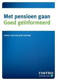 Met pensioen gaan Goed geïnformeerd - Fintro