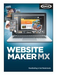 MAGIX Website Maker MX - MAGIX Online Welt