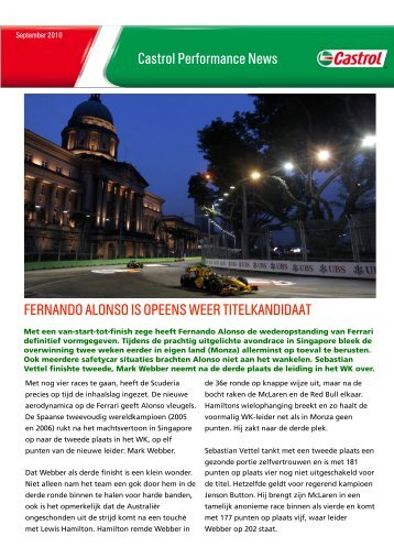 Castrol Performance News, september 2010 , pdf , 819KB