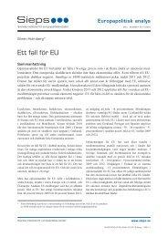 Ett fall för EU (2013:8epa) - Sieps
