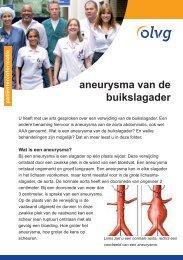 aneurysma van de buikslagader - Olvg