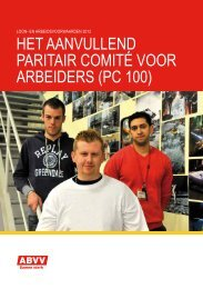 het aanvullend paritair comité voor arbeiders (pc 100) - horval