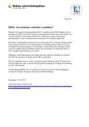 EBUS - hur använder vi tekniken i praktiken?