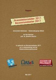 Onderzoeksrapport Armoedebarometer 2011 - Decenniumdoelen ...