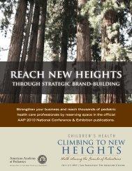 Reach new heights - American Academy of Pediatrics National ...