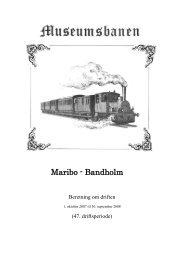Køredage 2008 - Museumsbanen Maribo-Bandholm