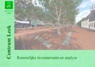 download de Ruimtelijke inventarisatie en analyse - Gemeente Leek