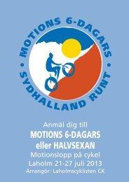 MOTIONS 6-DAGARS eller HALVSEXAN - Laholmscyklisten