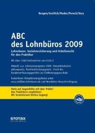 ABC des Lohnbu¨ ros 2009 - Stollfuß Medien