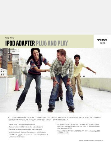 IPOD ADAPTER PLUG AND PLAY - Upplands Motor