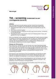 TIA – screening - Streekziekenhuis Koningin Beatrix