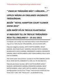 Information om resa till England