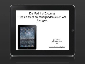 Tips en trucs voor de iPad - Digibieb