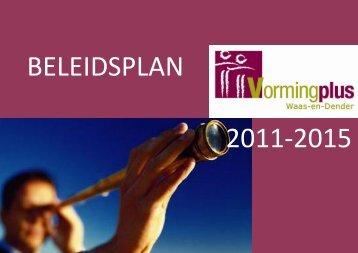 Beleidsplan 2011 - 2015 - Vormingplus Waas-en-Dender