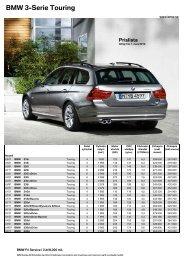 Den aktuella prislistan för BMW 3-serie Touring (PDF, 482 kB).