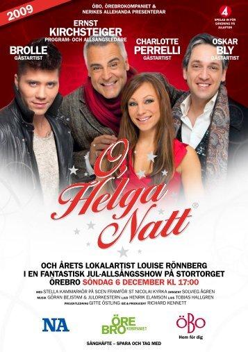 Här hittar du årets sånghäfte till O Helga Natt!