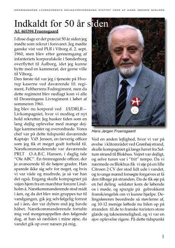 Indkaldt for 50 år siden - Dronningens Livregiments Soldaterforening