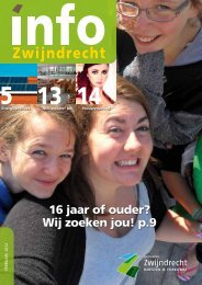 16 jaar of ouder? Wij zoeken jou! p.9 - Gemeente Zwijndrecht