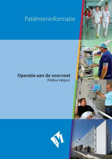 Folder Operatie aan de voorvoet - Martini ziekenhuis