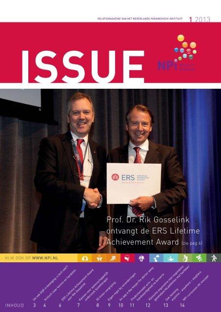 Issue 1, 2013 - Nederlands Paramedisch Instituut