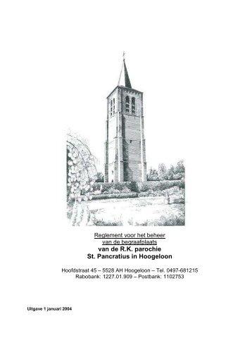 Begraafplaats regelement 01-01-2004 - Parochie Sint Pancratius