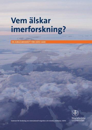 Vem älskar IMERforskning (pdf) - Stockholms universitet