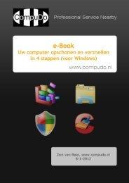 e-Book Uw computer opschonen en versnellen - CompuDo
