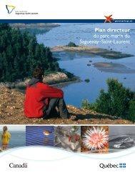 Plan directeur du parc marin du Saguenay–Saint ... - Parcs Canada