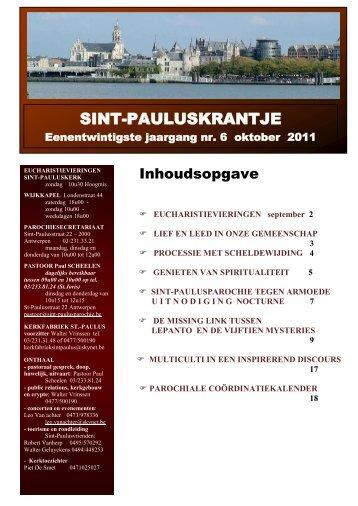 editie oktober 2011 - Sint-Paulusparochie Antwerpen
