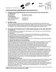 Positionspapier Harmonisierung Sek-II - Lehrerinnen und Lehrer ...