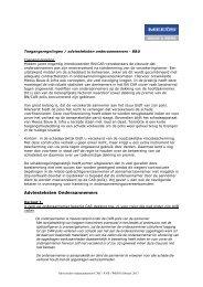 Toegangsregelingen / adviesteksten - Meeus