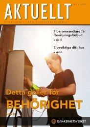 Aktuellt nr 2/2008 - Elsäkerhetsverket