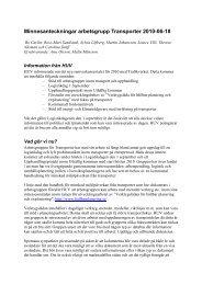 Minnesanteckningar arbetsgrupp Transporter 2010-06-18 - Hållbar ...