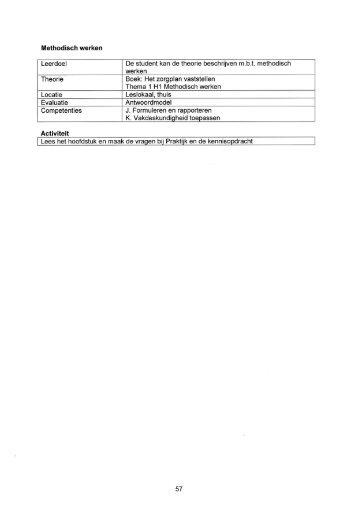 Activiteiten school Beroepstaak B beginner 2012-2013 (KD 2012)